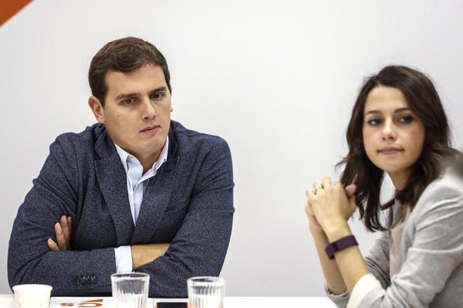 Albert Rivera e Inés Arrimadas, durante la reunión de la Ejecutiva...