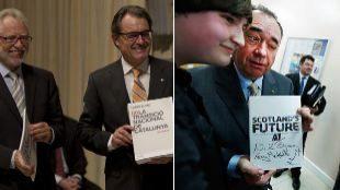 A la izda., Carles Viver y Artur Mas en la presentación del 'Libre...