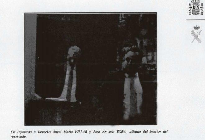 Villar y el juez Toro, en una imagen tomada por la Guardia Civil en su reunión de julio pasado.