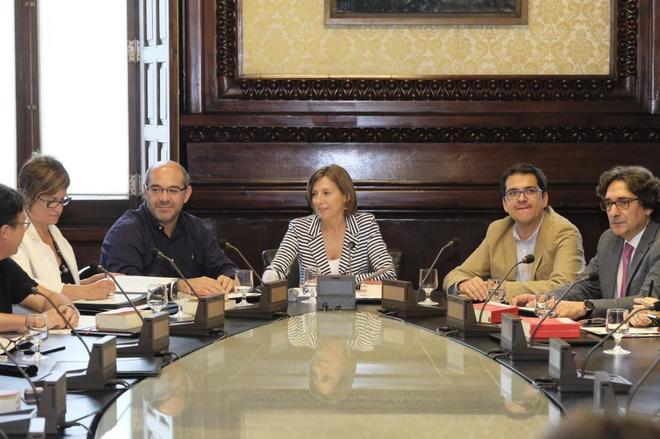Reunion de la Mesa y la Junta de Portavoces del Parlament de Catalunya la semana pasada