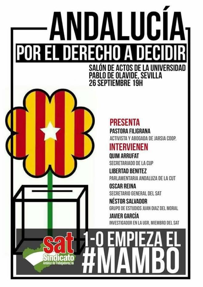 El Gobierno llevará a la Fiscalía el mitin de la CUP y el SAT en la Universidad Olavide de Sevilla