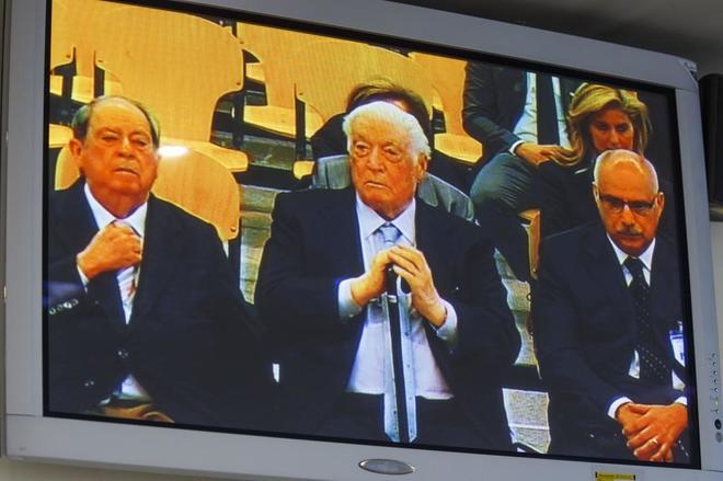 LLuis Prenafeta, Macia Alavedra y Luis Andres Garcia, declarando en...