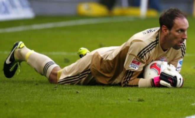 Tom Starke, durante un partido de la Bundesliga.