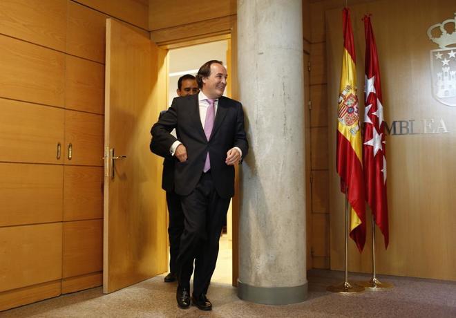 Jaime González Taboada, tras declarar en la comisión de investigación de corrupción de la Asamblea en julio.