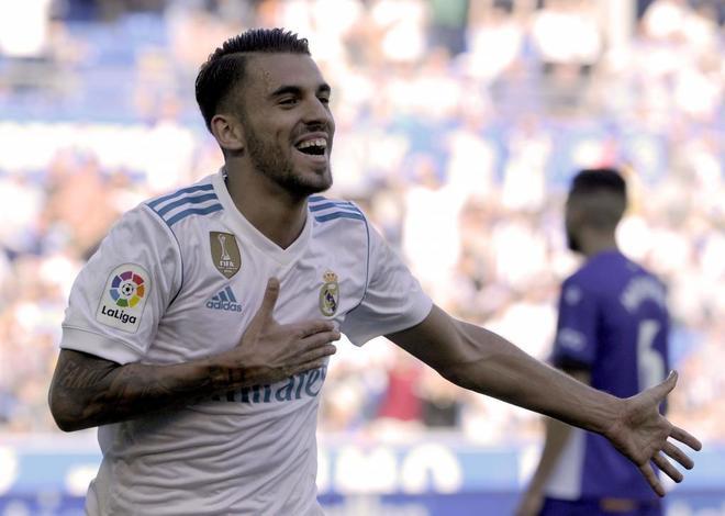 Dani Ceballos celebra su primer gol como madridista ante el Alavés.