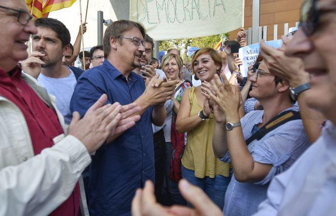 Xavier Domènech, en Cerdanyola del Vallès en apoyo a la alcaldesa de Montcada