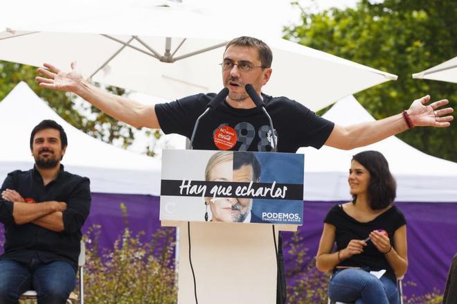 Juan Carlos Monedero, en un acto celebrado este verano en Fuenlabrada.