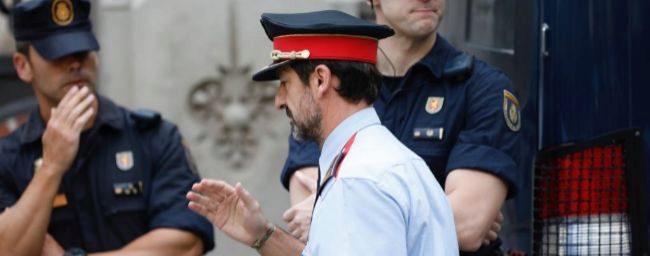 El comisario Ferrán López Navarro, a su llegada hoy a la reunión en...