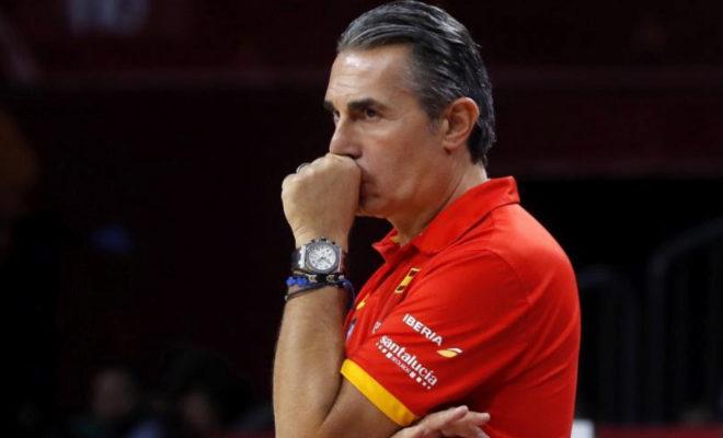 Sergio Scariolo, durante el encuentro de semifinales del Eurobasket.