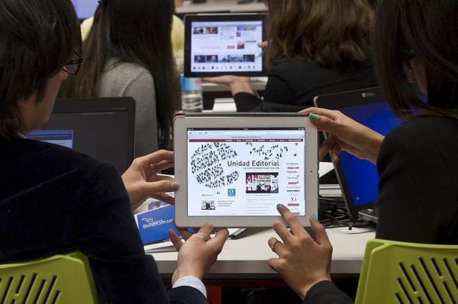 Los alumnos acceden al curso a través del campus virtual.