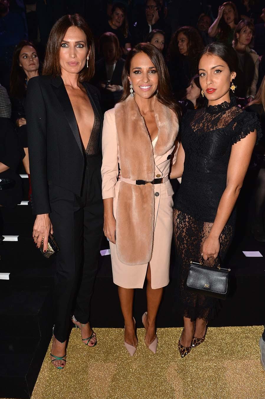 Las tres españolas brillaron en el front row del Etam Live Show...