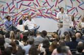 Pablo Iglesias, el pasado domingo en Zaragoza, en la asamblea de...