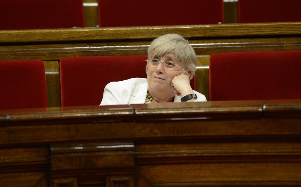 Clara Ponsatí en el pleno del Parlament de Cataluña.