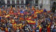 Una imagen de la manifestación celebrada en Barcelona contra el...