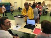 Problemas informáticos en las mesas durante la jornada de votación.