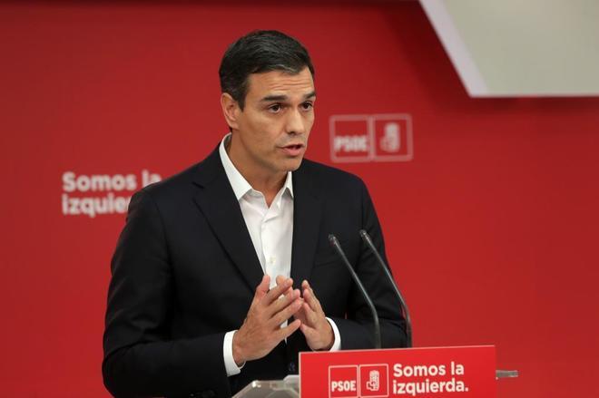 Pedro Sánchez, en un momento de su intervención.
