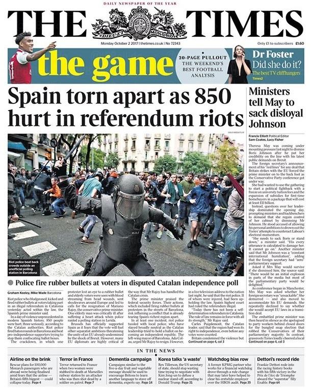 España desgarrada por los 850 heridos en los disturbios por el...