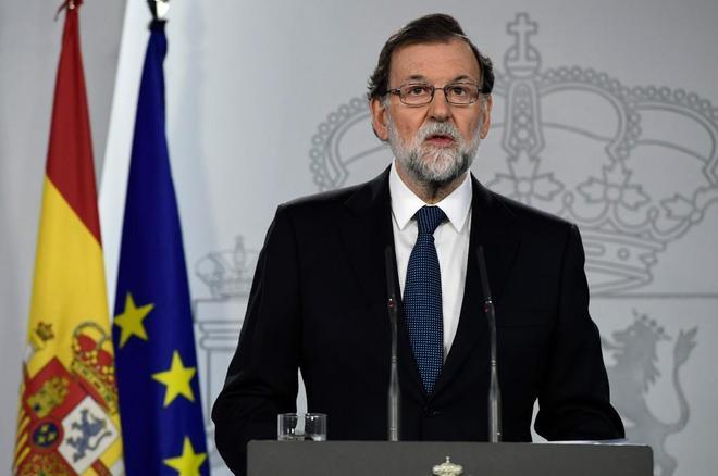El presidente del Gobierno, Mariano Rajoy, en la rueda de prensa de...