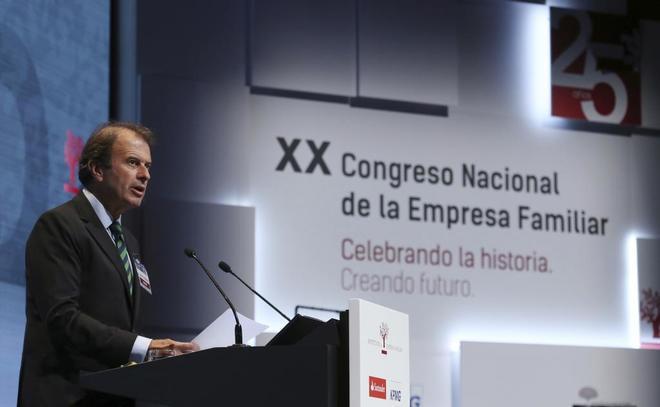 El presidente del Instituto de Empresa familiar, Ignacio Osborne, en el XX Congreso Nacional de la Empresa Familiar.