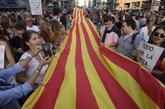 Concentración por la huelga general tras el 1-O en Barcelona.