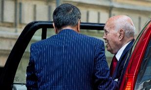 El ex tesorero del PP, Álvaro Lapuerta, llegando a la Audiencia...