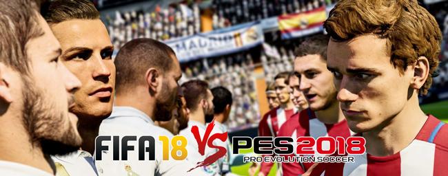 El eterno derbi continúa en FIFA 18 y Pro Evolution Soccer 2018
