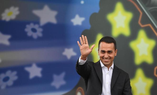 El nuevo líder del Movimiento Cinco Estrellas italiano y nuevo candidato elegido por el primer ministro italiano, Luigi Di Maio.