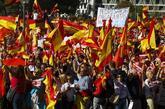 Un aspecto de la manifestación celebrada en la Plaza de Colón, de...