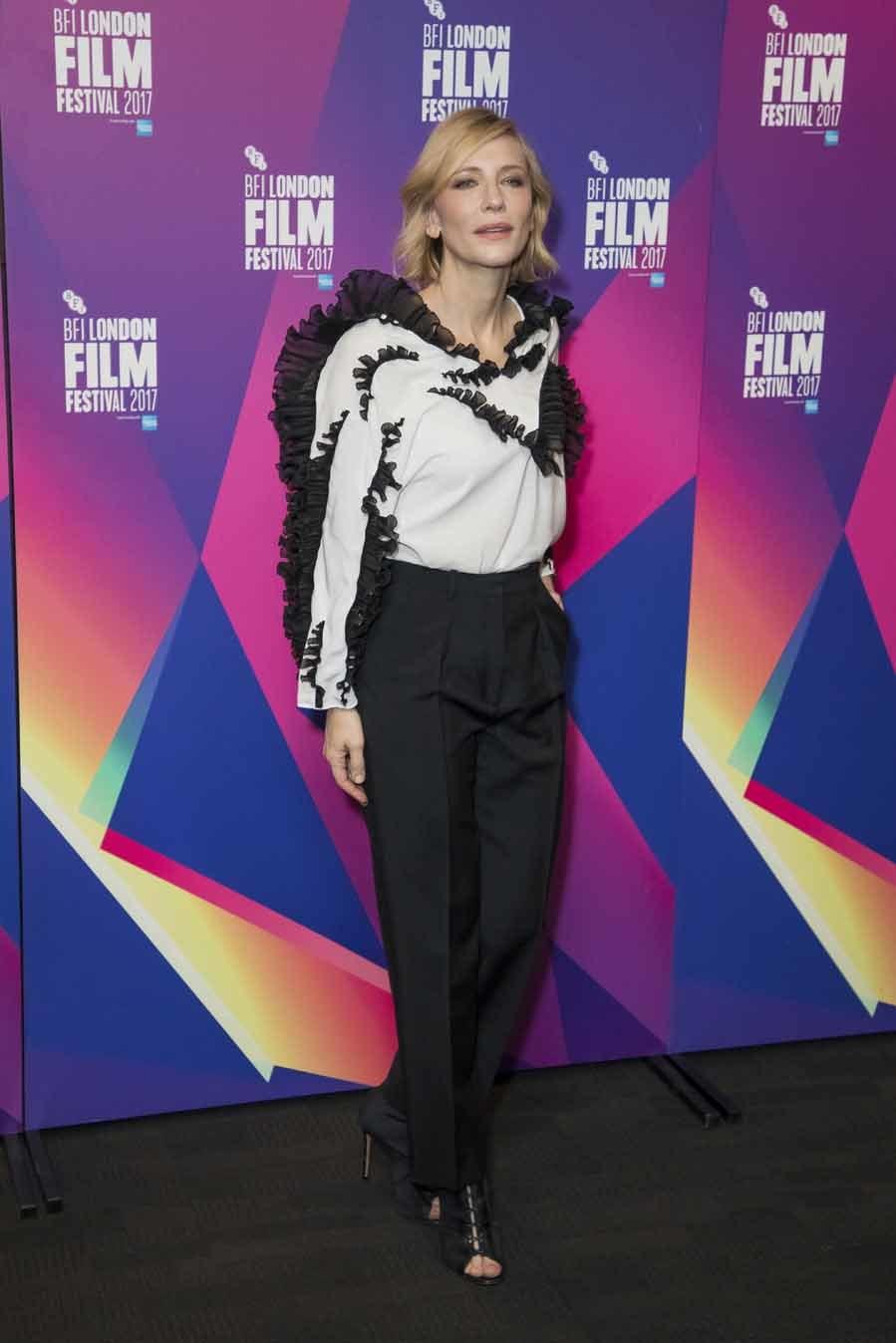 Un look elegante y muy chic con el que Blanchett acaparó todas las...