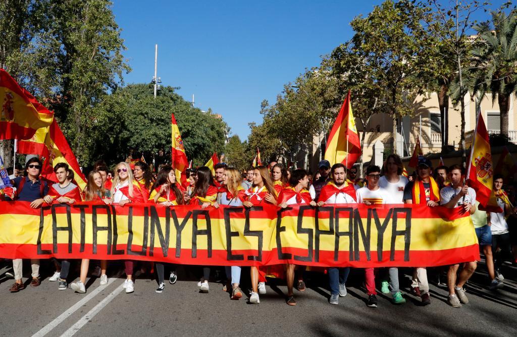 Catalunya es Espanya, uno de los lemas recogidos en la...