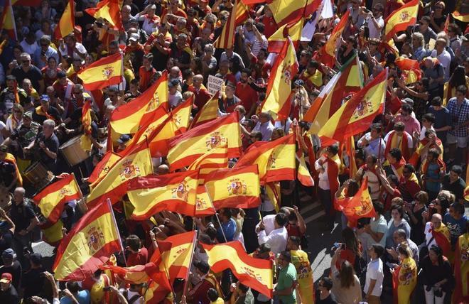 Una imagen de la manifestación que ha recorrido hoy el centro de...