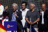 Mario Vargas Llosa, durante su intervención al final de la...