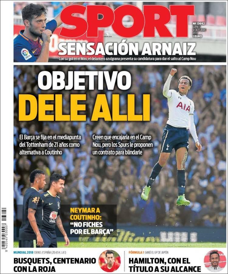 As vienen las portadas de los diarios deportivos 09 10 for Portadas de f c e