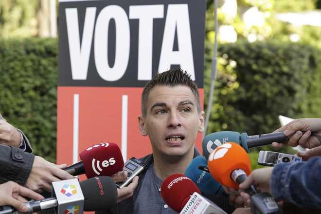Pablo Soto, concejal de Ahora Madrid en el acto de entrega de Medallas de Madrid