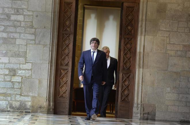 Carles Puigdemont, la pasada semana en el Palau de la Generalitat.