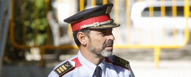 El mayor Josep Lluís Trapero, el pasado día 6, al ir a declarar a la...