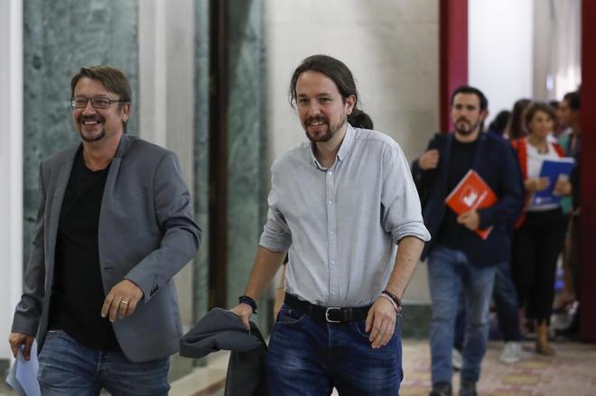 Xavier Domènech y Pablo Iglesias.