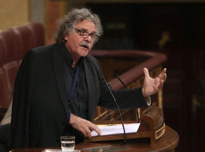 Joan Tardà, ayer, durante su intervención en el Congreso.