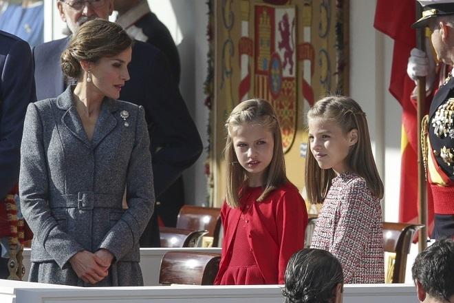 Letizia junto a sus hijas