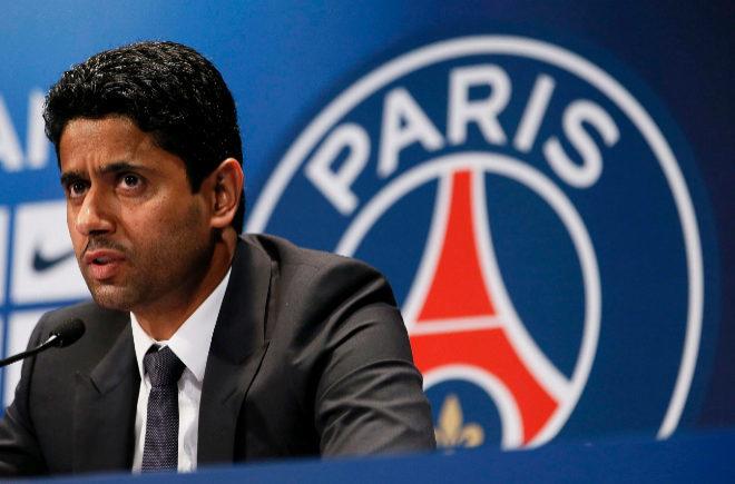 Nasser al-Khelaifi, durante una rueda de prensa en París.