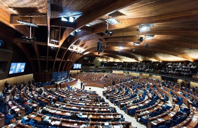 Sesión del Consejo de Europa, ayer miércoles, en Estrasburgo.