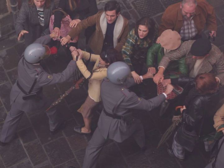 Vitoria revive los sucesos del 3 de marzo de 1976 con el rodaje de una película
