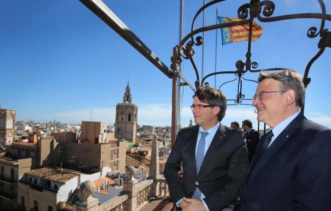 Carles Puigdemont y Ximo Puig, en una imagen de archivo.