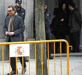 Artus Mas, en febrero de este año, a su salida del Tribunal Supremo...