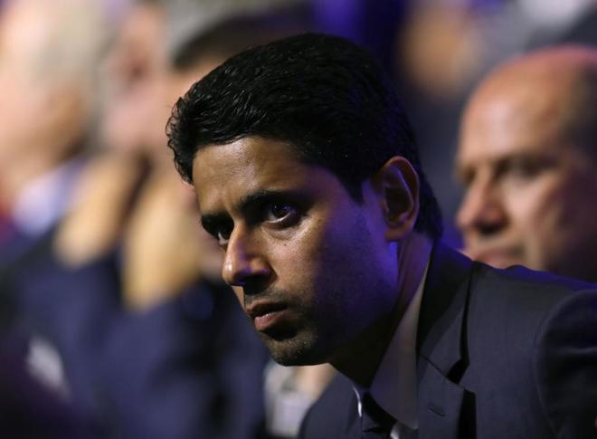 El presidente del PSG Nasser Al Khelaifi.