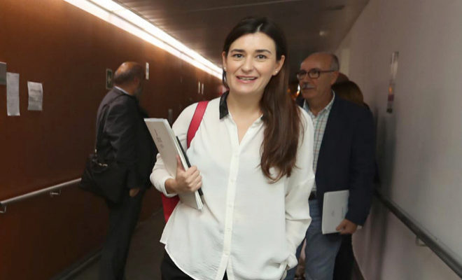La consellera de Sanidad, Carmen Montón, en el Hospital Provincial de Castellón.