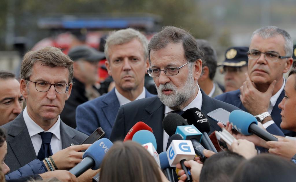 El presidente del Gobierno, Mariano Rajoy, comparece ante los medios de comunicación.