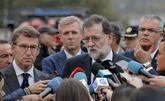 El presidente del Gobierno, Mariano Rajoy, comparece ante los medios...