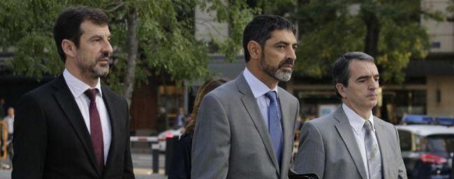 Josep Lluís Trapero, a su llegada hoy a la Audiencia Nacional para...