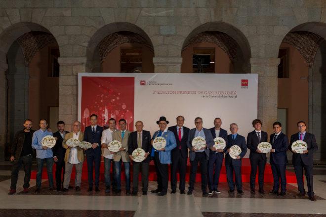 Los galardonados en los II Premios de Gastronomía.